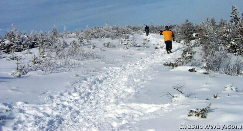 Hiking up the Snowy Saddle to Mittersill