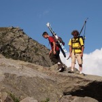 Skiers Prepare to Downhike 1