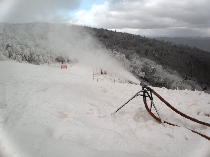 Snowmaking on Rime