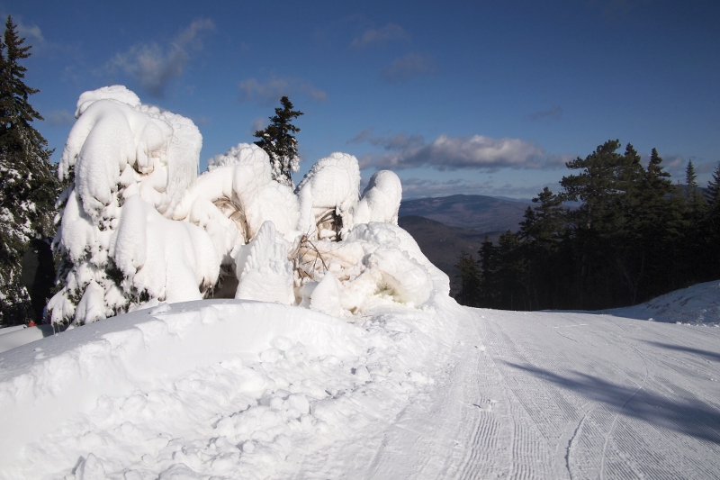 Snowmaking Damage on Upper Sunday Punch